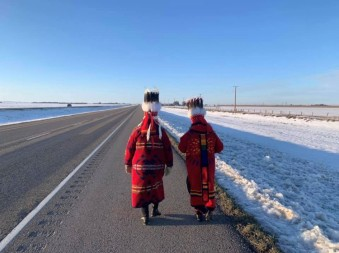 Elders from Piikani Nation in regalia