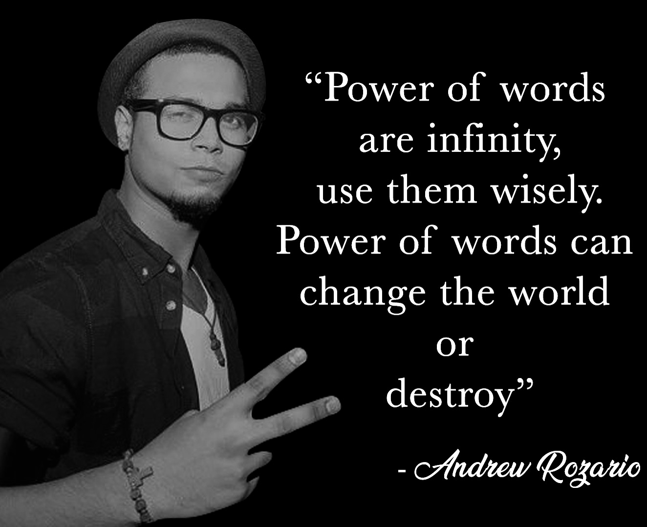 andrew rozario power of words